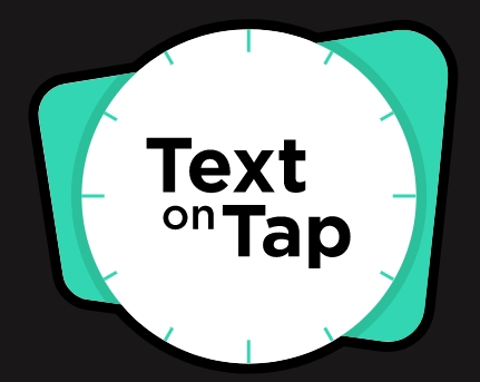 Logo Text on Tap